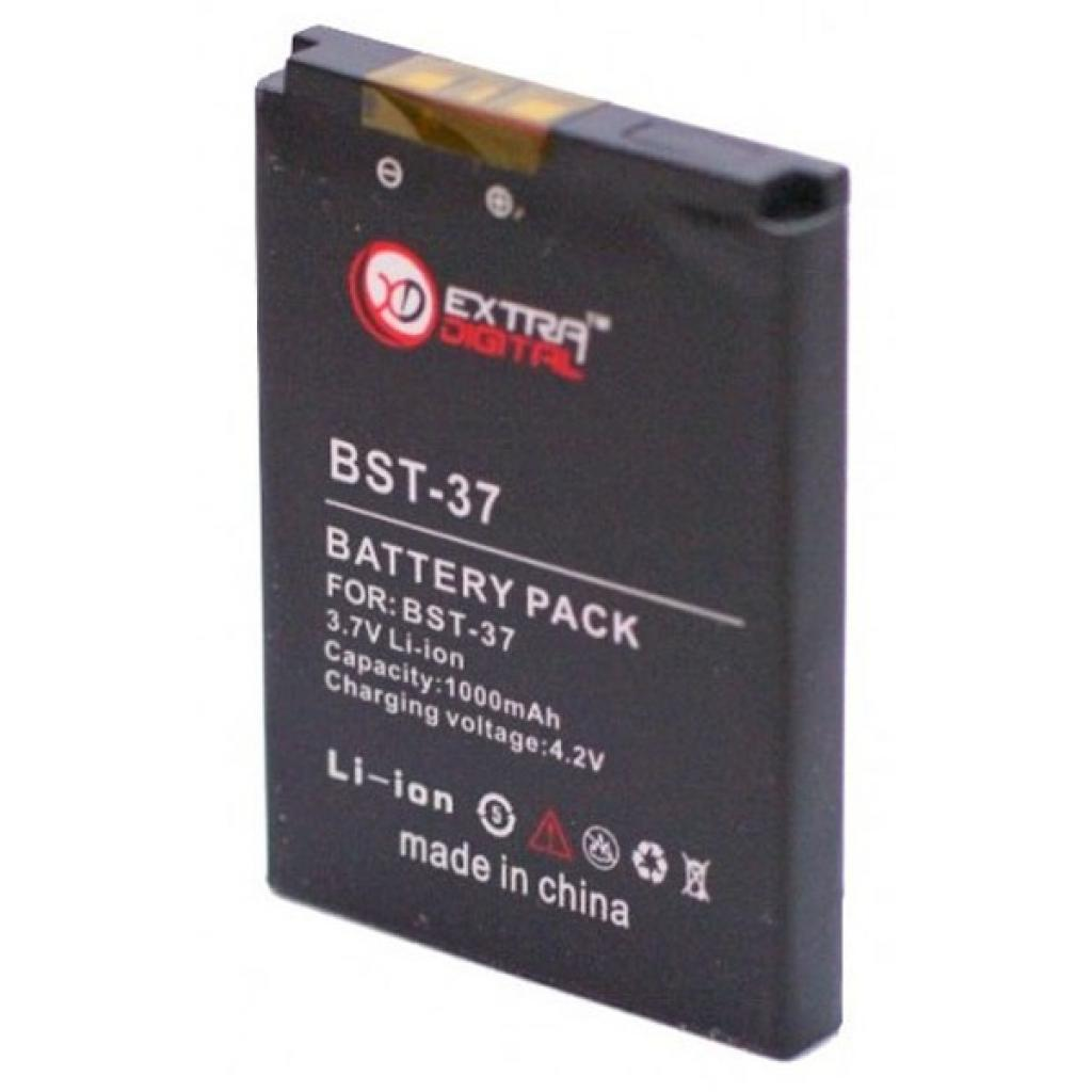 Аккумуляторная батарея EXTRADIGITAL Sony Ericsson BST-37 (1000 mAh) (BMS6351) изображение 2