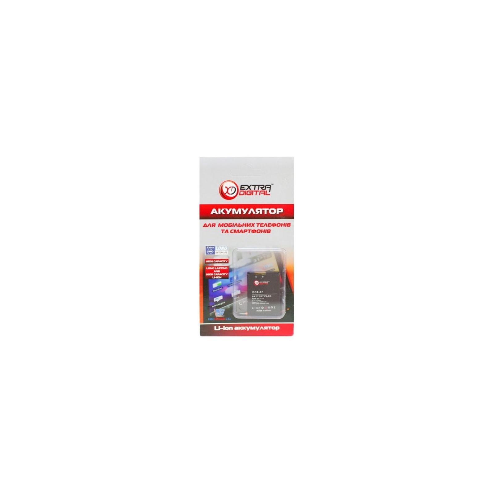 Аккумуляторная батарея EXTRADIGITAL Sony Ericsson BST-37 (1000 mAh) (BMS6351) изображение 3