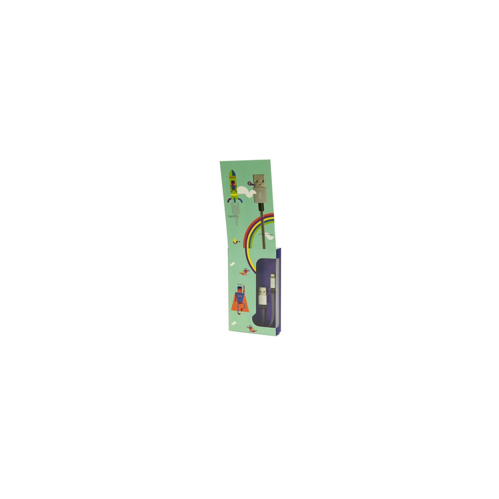 Дата кабель JUST Selection Lightning USB Cable Silver (LGTNG-SLCN-SLVR) изображение 3