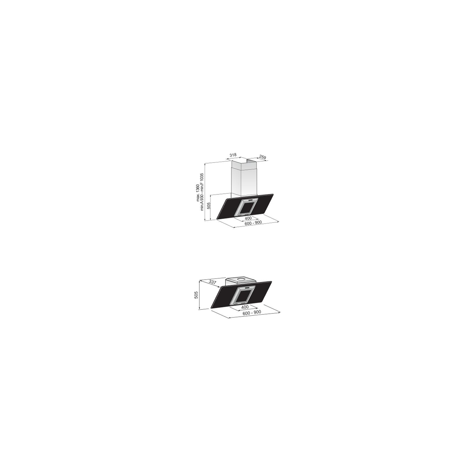 Вытяжка кухонная Zirtal PANDA ST 90 WH изображение 2