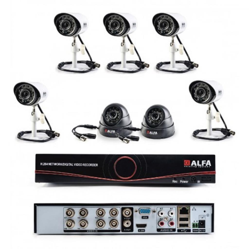 Комплект видеонаблюдения ALFA Mix 5х2