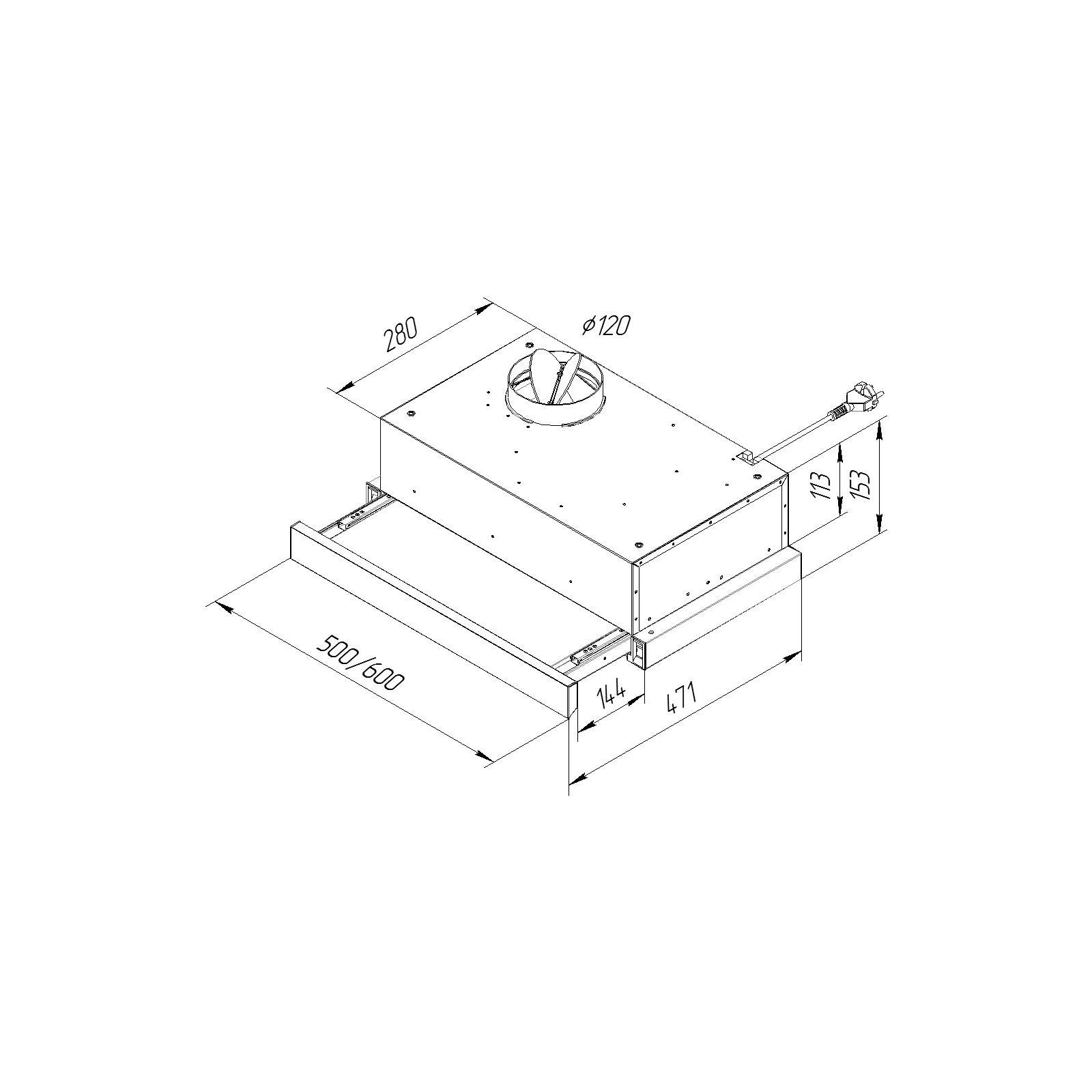 Вытяжка кухонная Pyramida TL 50 SLIM IX изображение 12