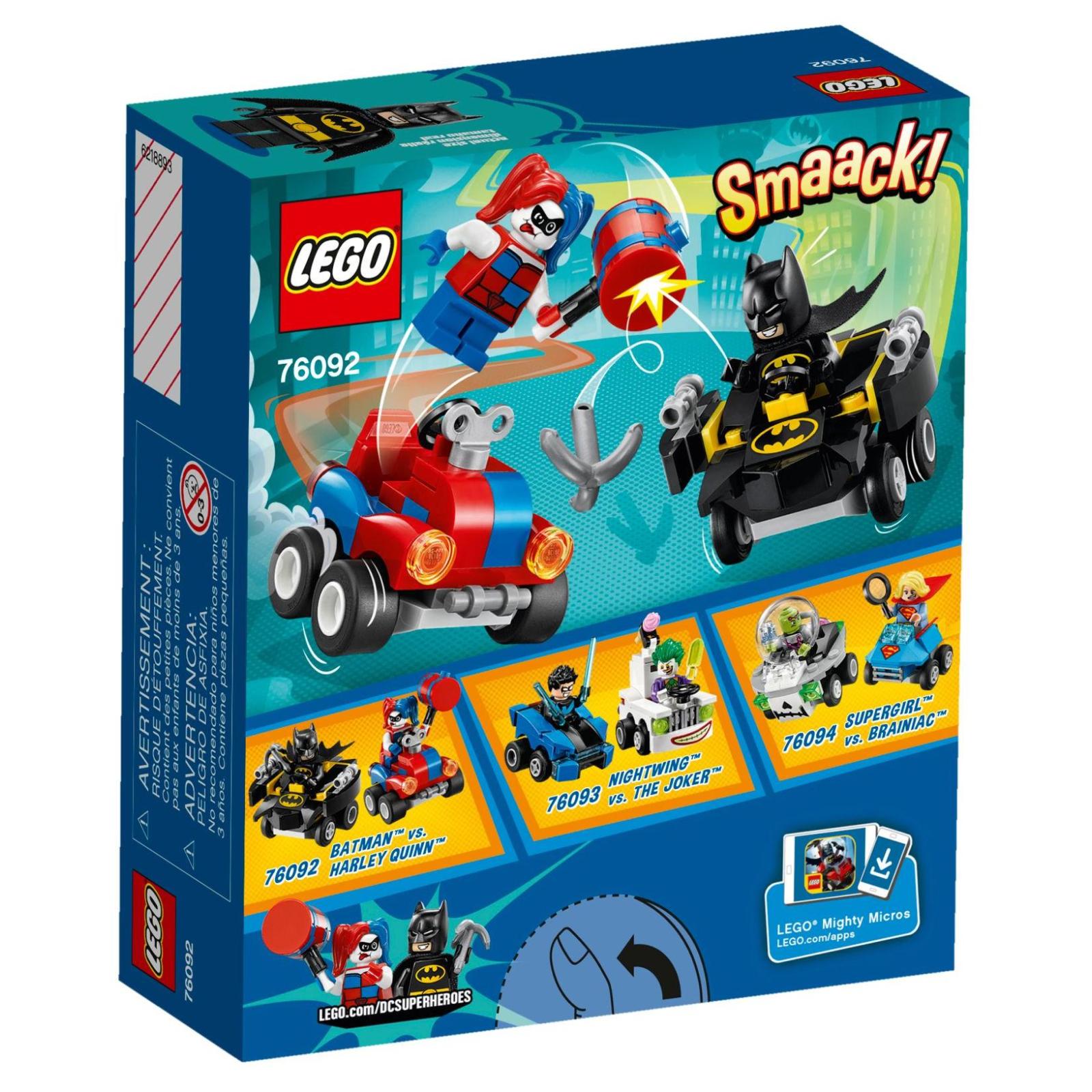 Конструктор LEGO Super Heroes Mighty Micros: Бэтмен против Харли Квин (76092) изображение 7