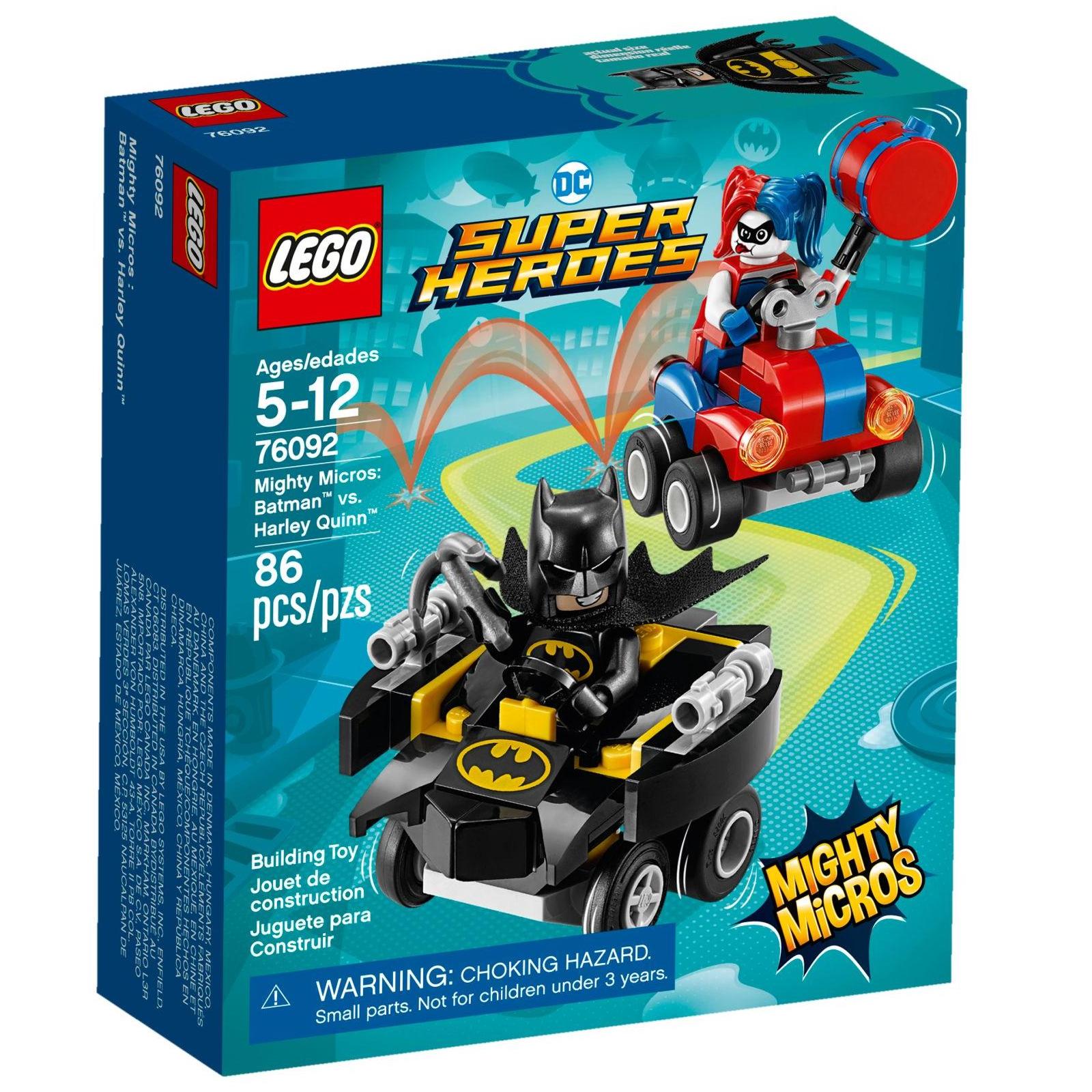 Конструктор LEGO Super Heroes Mighty Micros: Бэтмен против Харли Квин (76092)