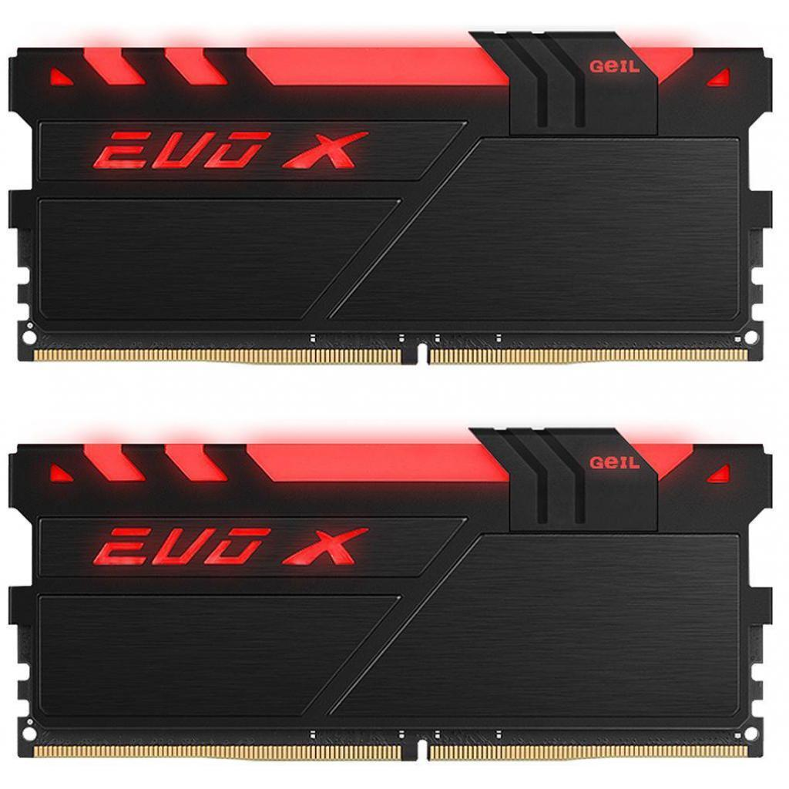 Модуль памяти для компьютера DDR4 16GB (2x8GB) 2400 MHz EVO X Black RGB LED Geil (GEXB416GB2400C16DC)