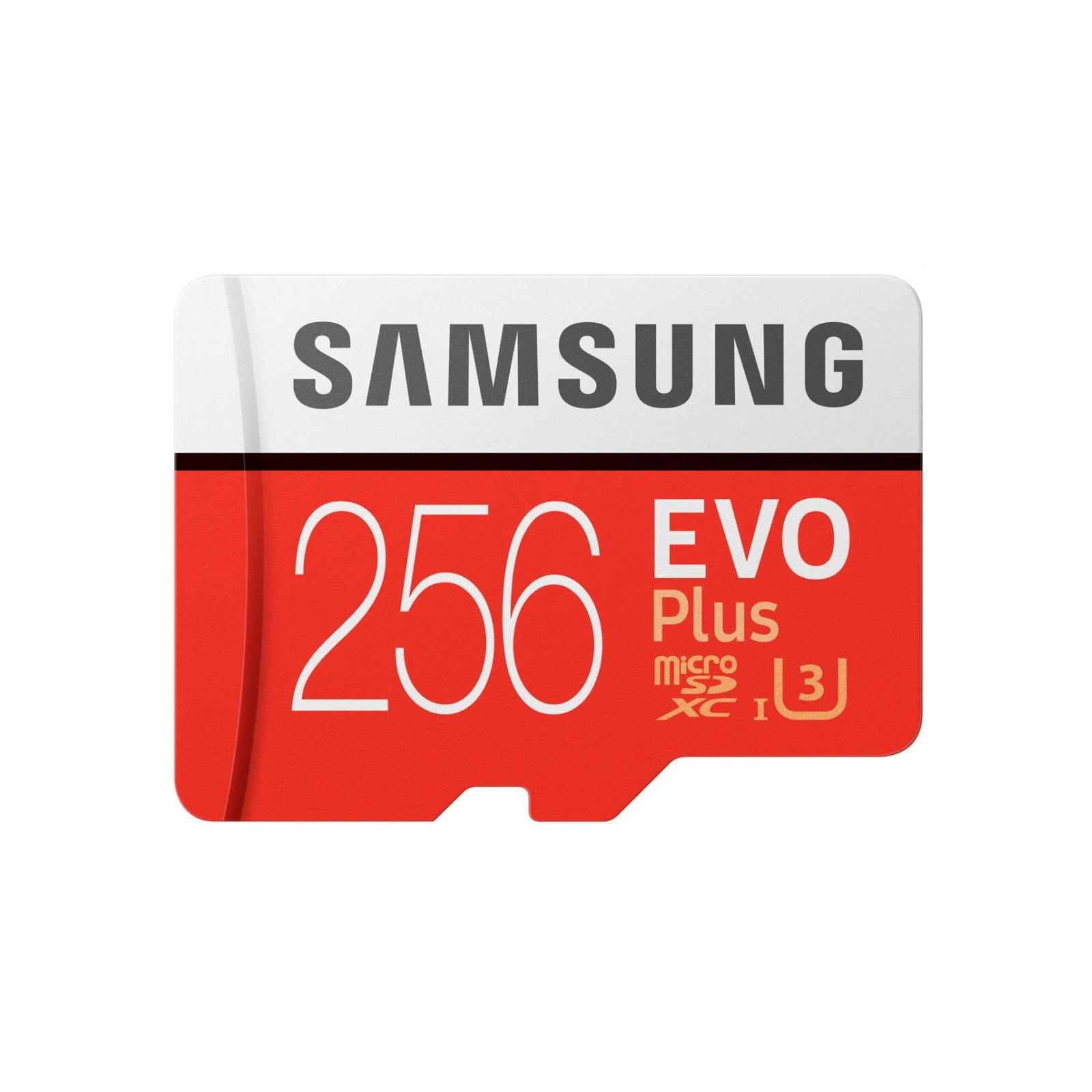 Карта памяти Samsung 256GB microSDXC class 10 UHS-I U3 Evo Plus (MB-MC256GA/RU) изображение 2