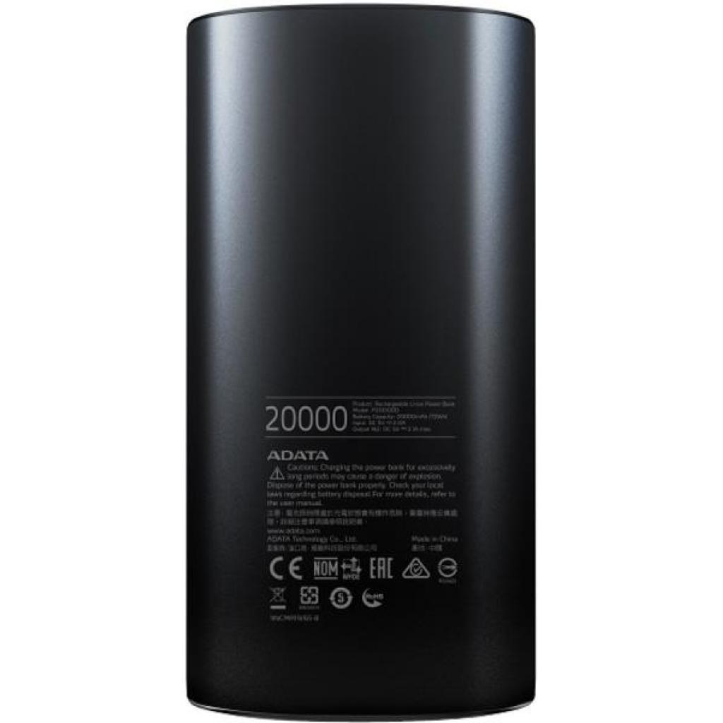 Батарея универсальная ADATA P20000D 20000mAh Black (AP20000D-DGT-5V-CBK) изображение 3