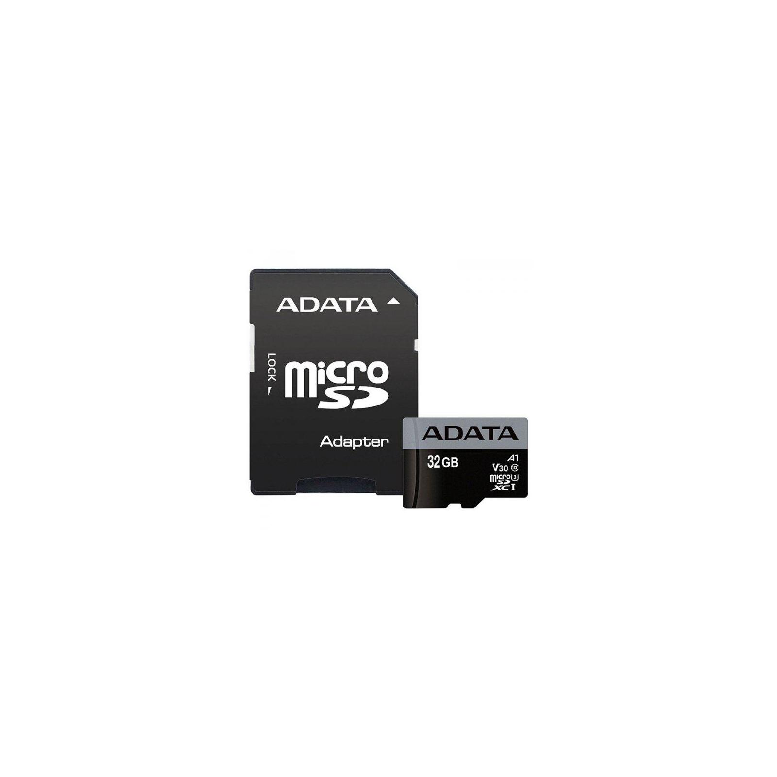 Карта памяти ADATA 32GB microSD class 10 UHS-I U3 A1 (AUSDH32GUI3V30SA1-RA1)
