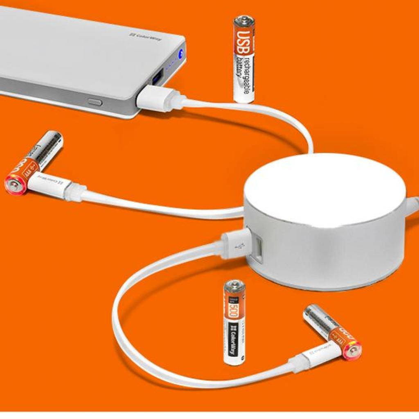Аккумулятор ColorWay AAA micro USB 400 mAh * 2 (CW-UBAAA-01) изображение 5