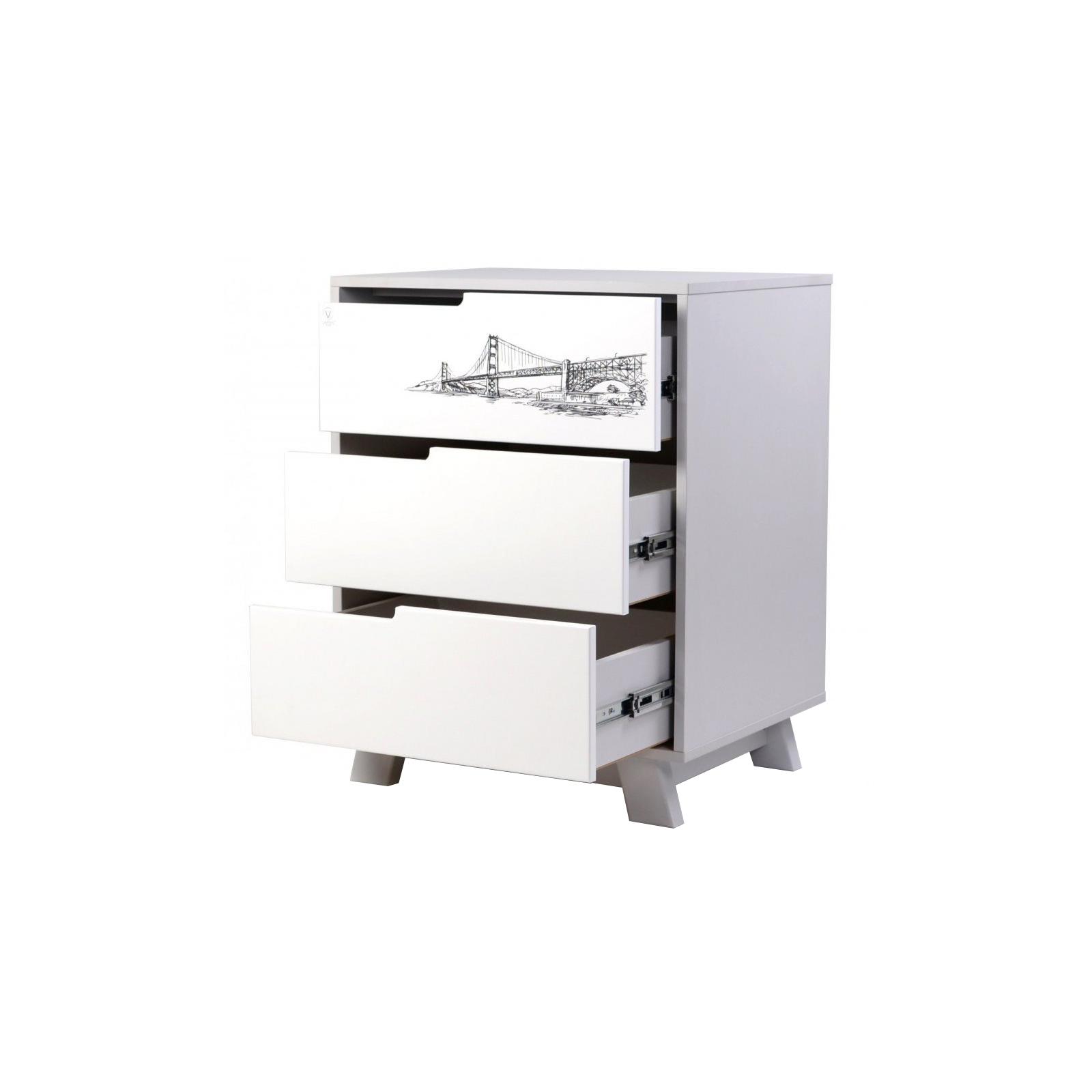 Комод-пеленатор Верес (600) Manhattan бело-серый Tattou (32.2.321.1.17) изображение 2