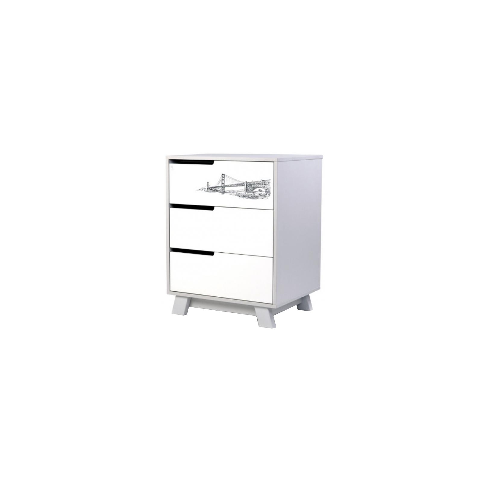 Комод-пеленатор Верес (600) Manhattan бело-серый Tattou (32.2.321.1.17)