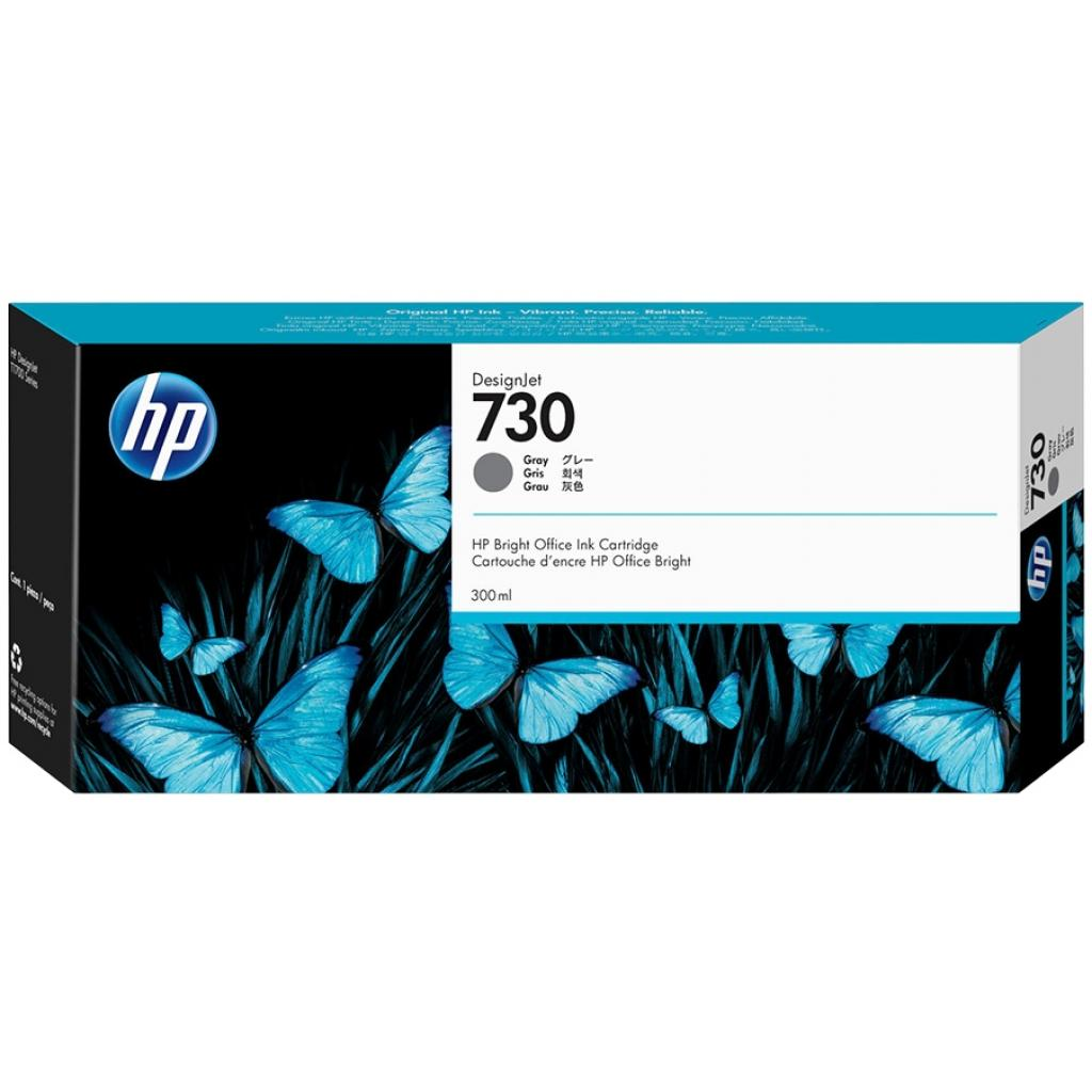 Картридж HP DJ No.730 300ml Gray (P2V72A)