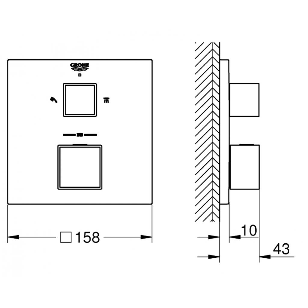 Термостатический смеситель Grohe GRT (24154000) изображение 3