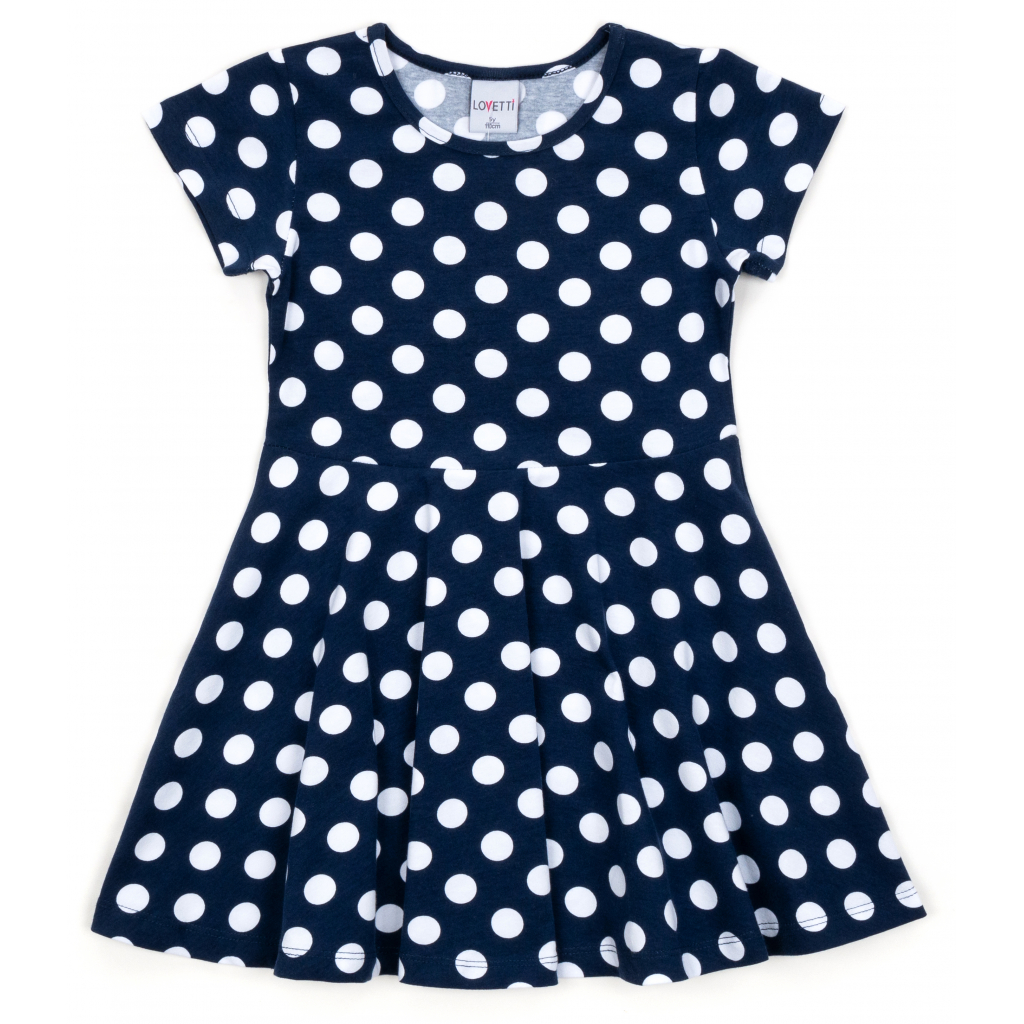 Платье Lovetti в горошек (5911-68-110G-blue)