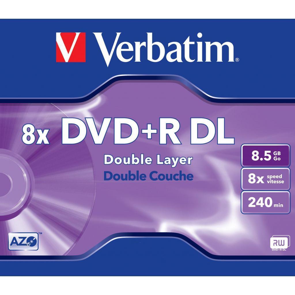 Диск DVD Verbatim 8.5Gb 8x JC 10 шт Inkjet Printable (43665)
