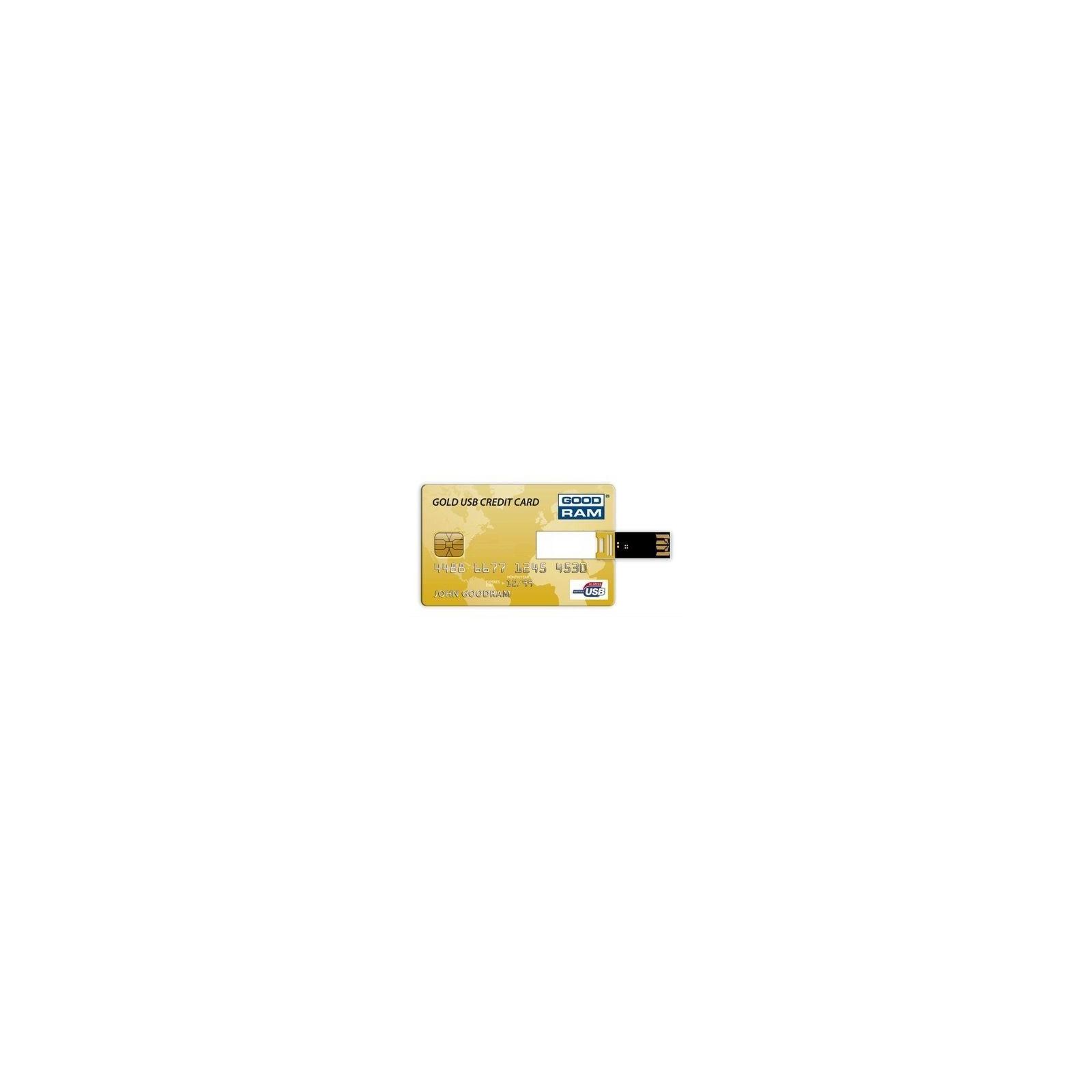 USB флеш накопитель GOODRAM 8Gb Gold Credit Card (PD8GH2GRCCPR9)