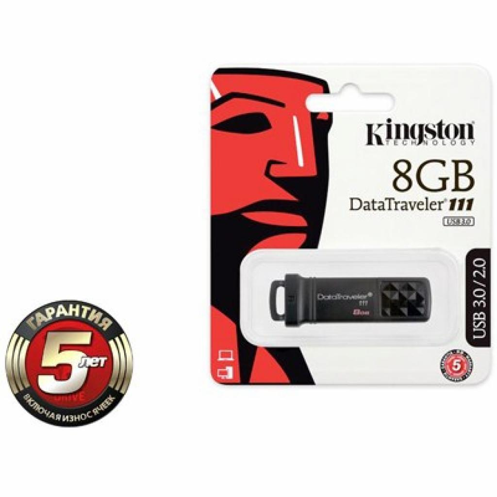 USB флеш накопитель Kingston 8Gb DataTraveler DT111 Black (DT111/8GB) изображение 3