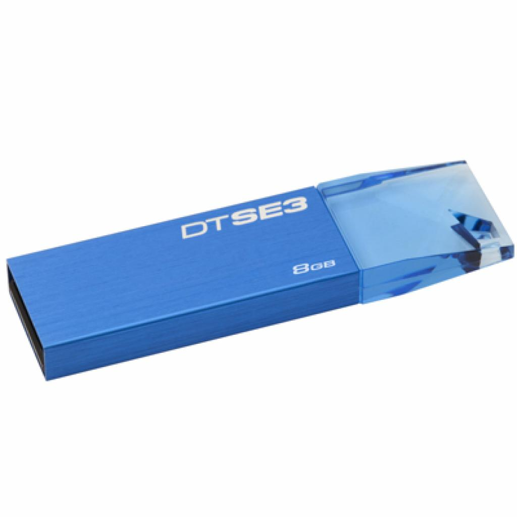 USB флеш накопитель Kingston 8Gb DataTraveler SE3 blue (KC-U688G-3YB)