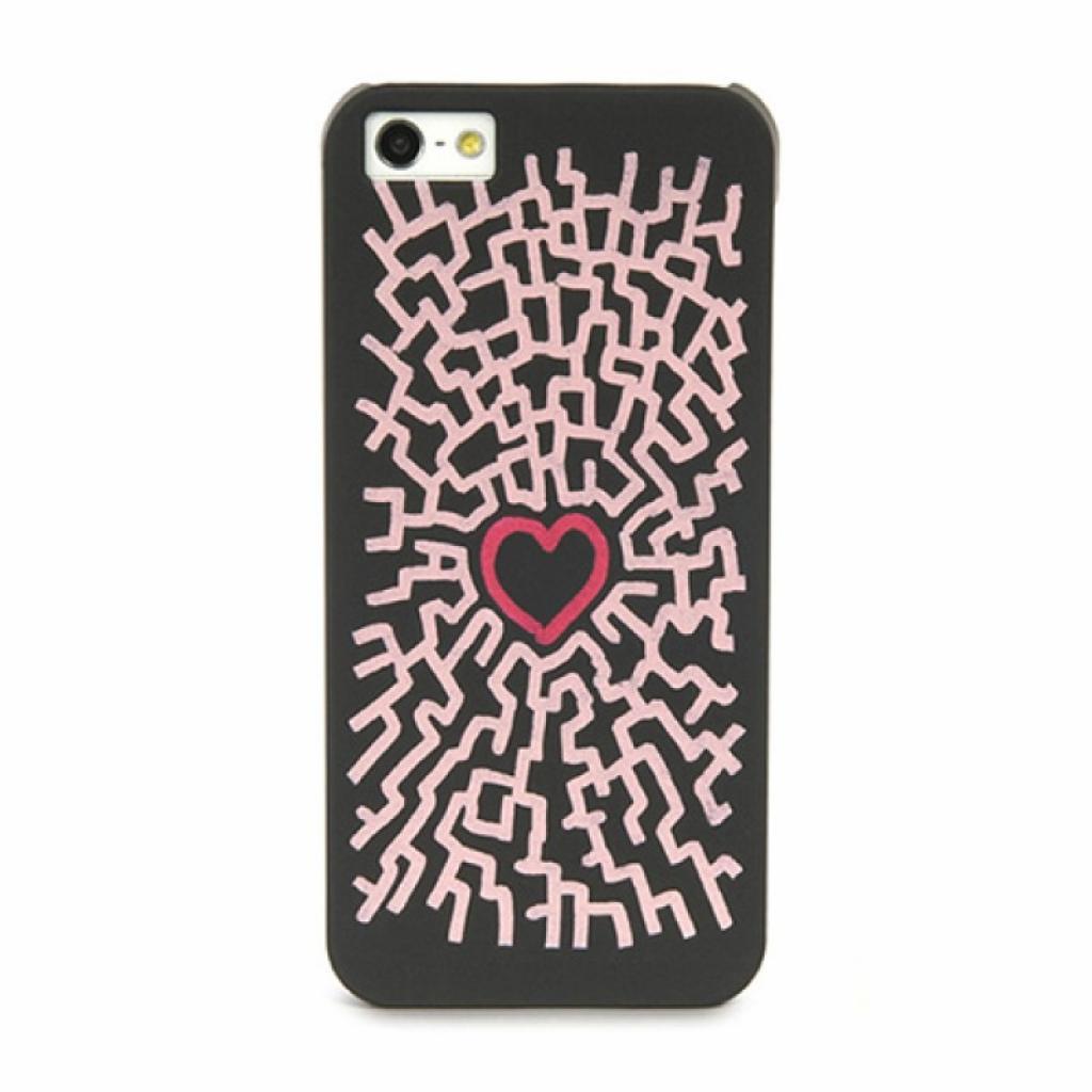 Чехол для моб. телефона Tucano iPhone 5/5S Cuore by Leo (IPH5BL-CUC)