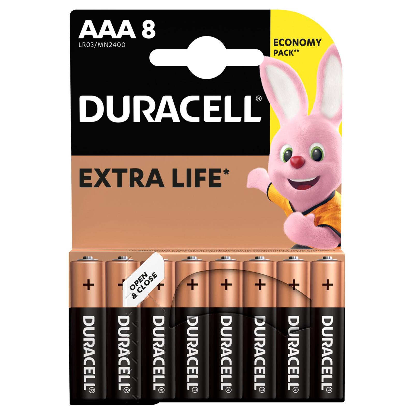 Батарейка Duracell AAA MN2400 LR03 * 8 (5000394203341 / 81480364) изображение 2
