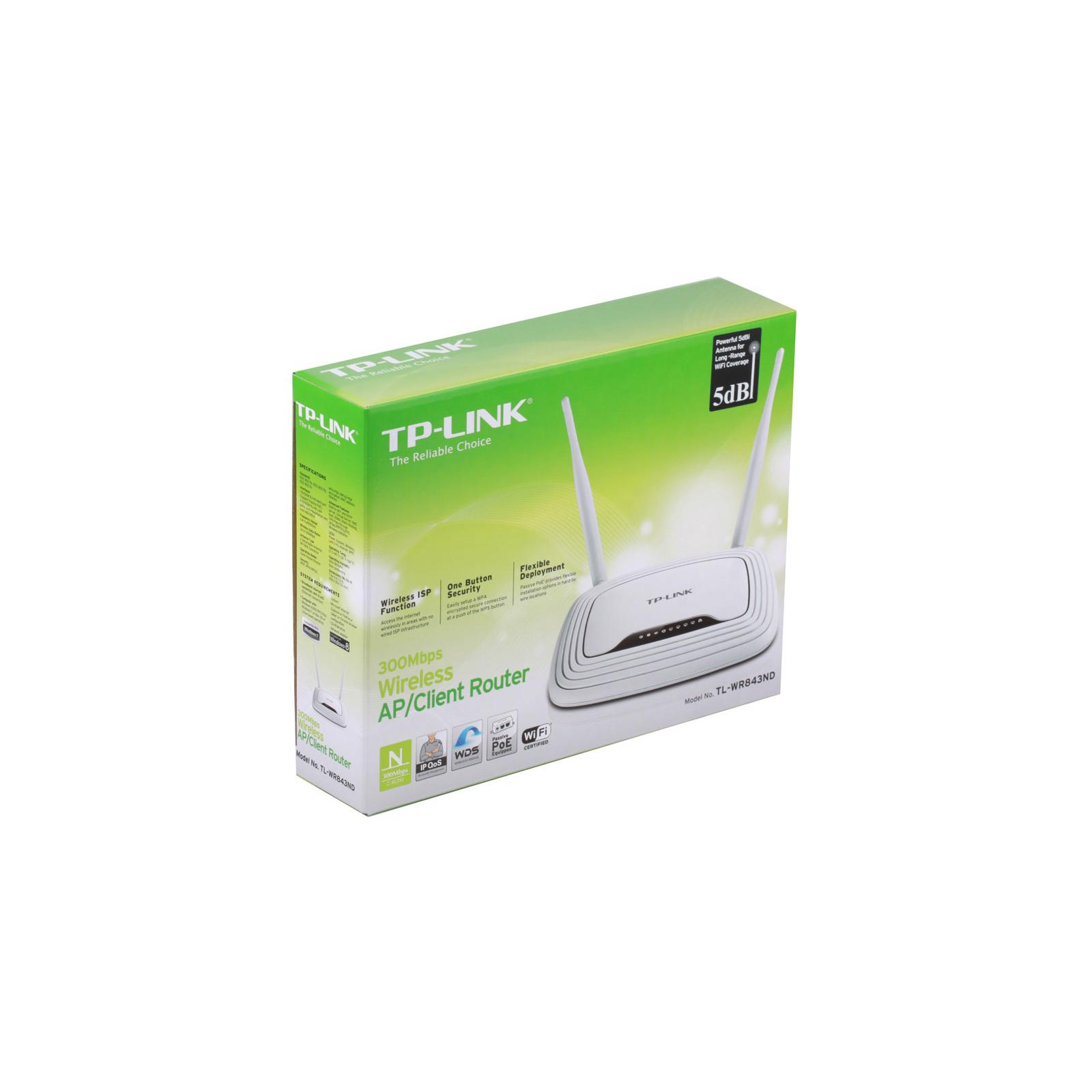 Маршрутизатор TP-Link TL-WR843ND изображение 5