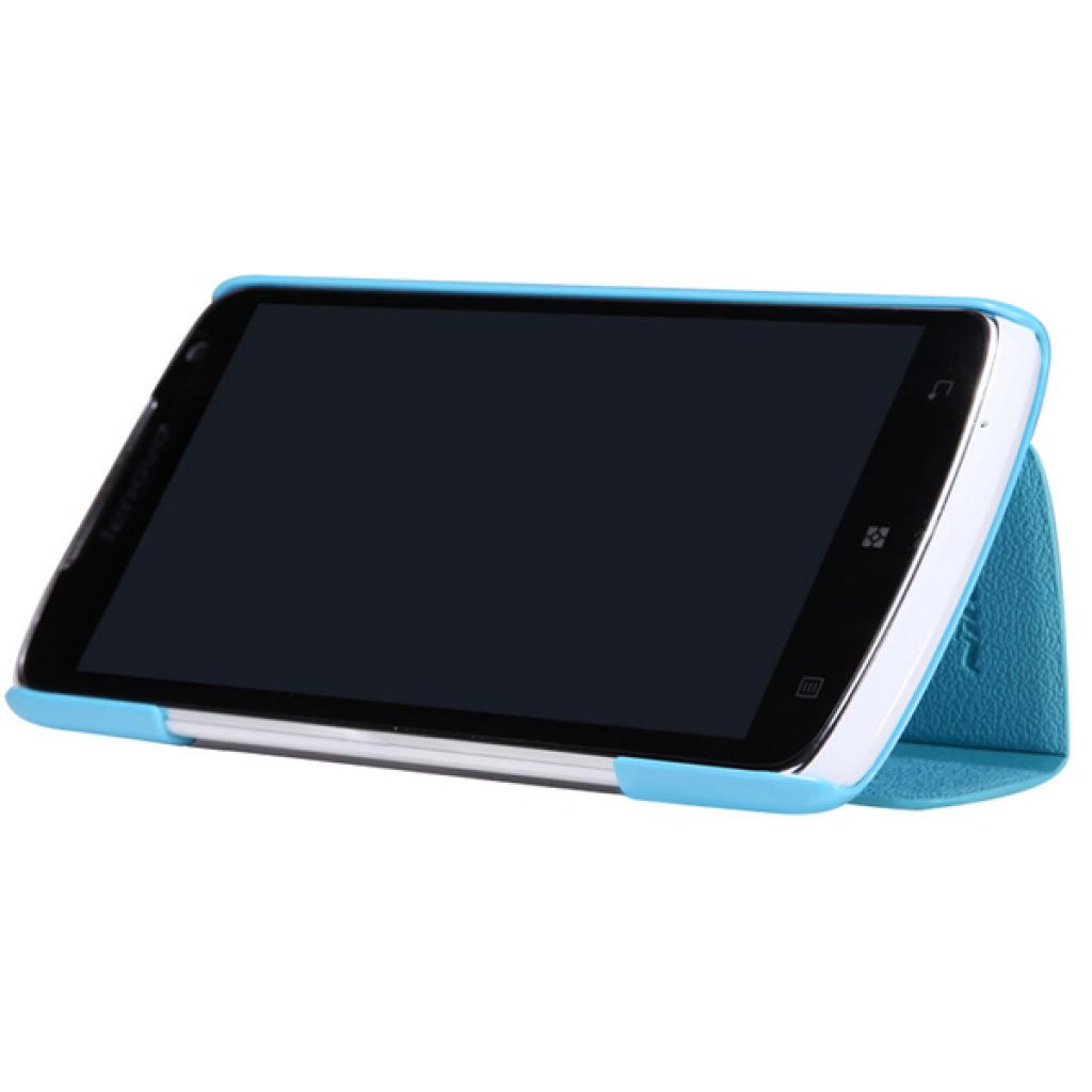 Чехол для моб. телефона NILLKIN для Lenovo S920 /Fresh/ Leather/Blue (6076870) изображение 2