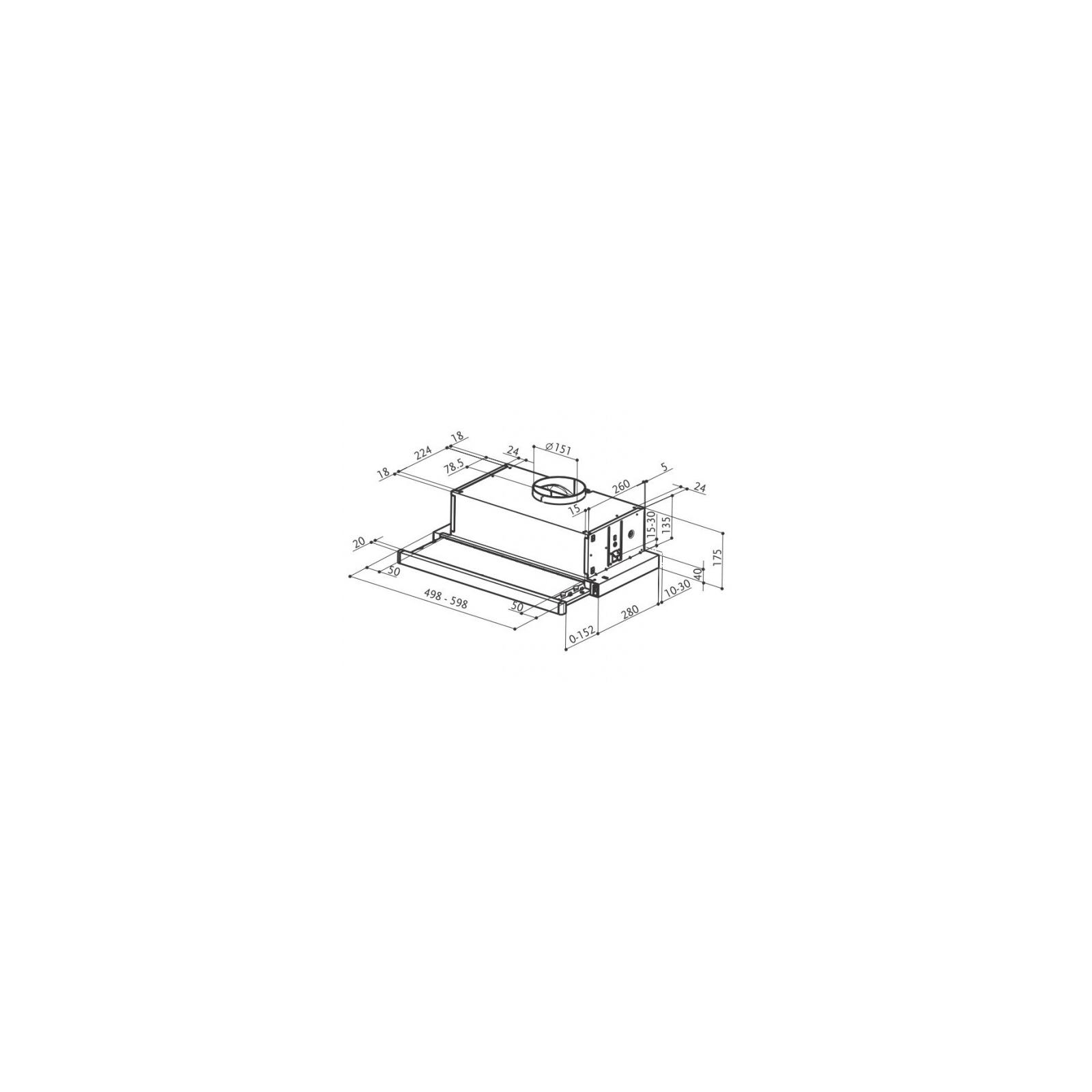 Вытяжка кухонная FABER FLEXA HIP W A 60 изображение 2