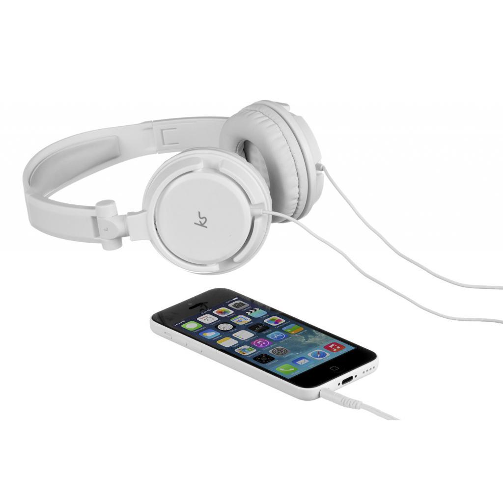 Наушники KitSound KS iD On-Ear Headphones with In-Line Mic White (KSIDWH) изображение 5