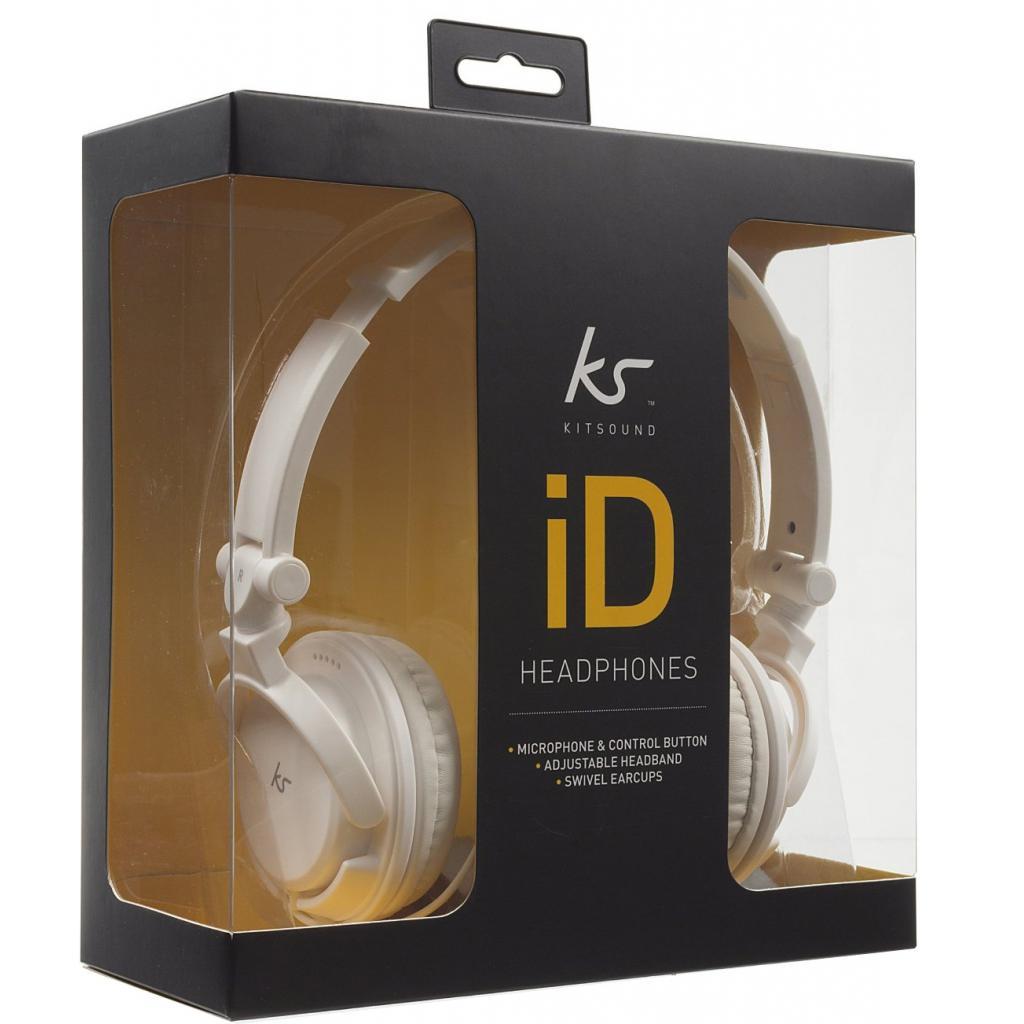 Наушники KitSound KS iD On-Ear Headphones with In-Line Mic White (KSIDWH) изображение 6