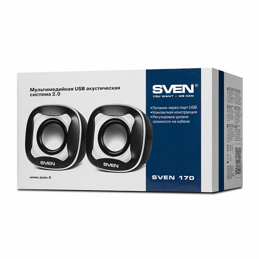 Акустическая система SVEN 170 black-white изображение 4