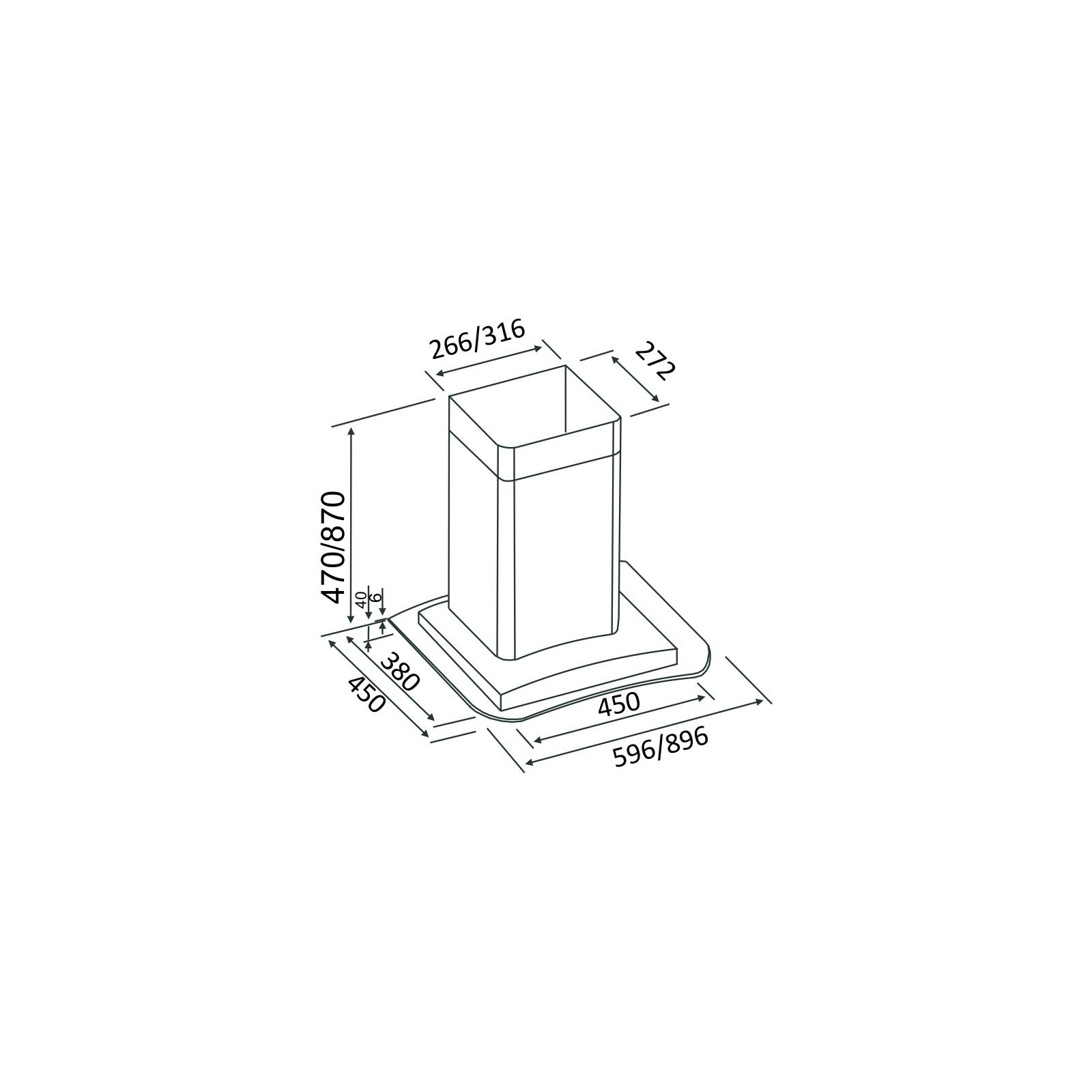 Вытяжка кухонная INTERLINE SUNNY X/V A/60 PB/ E изображение 2
