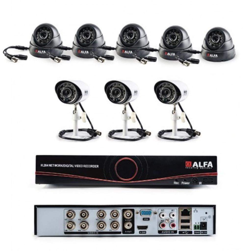 Комплект видеонаблюдения ALFA Mix 5х3