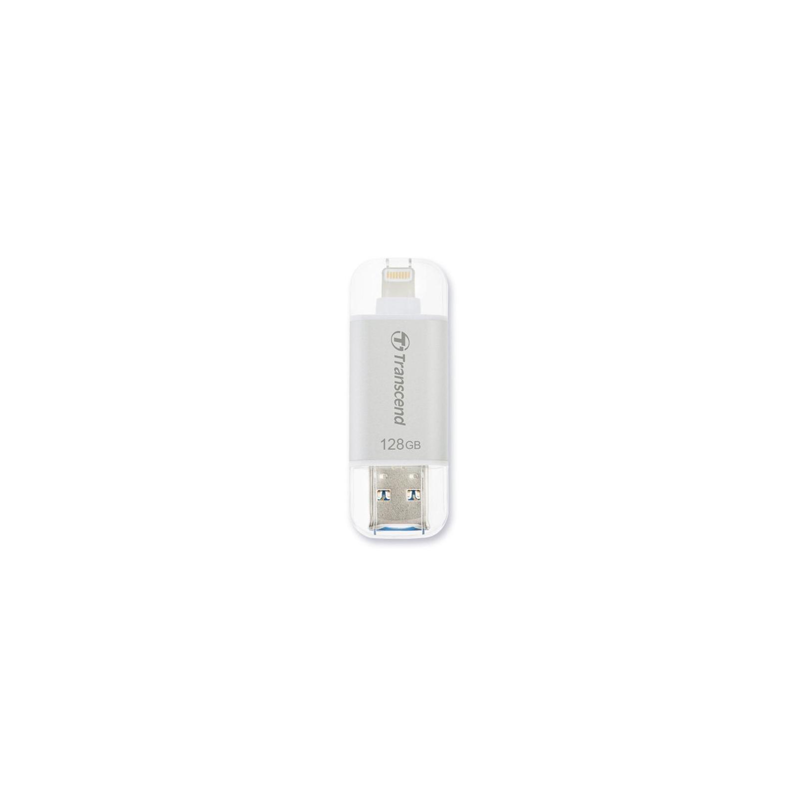 USB флеш накопитель Transcend 128GB JetDrive Go 300 Silver USB 3.1 (TS128GJDG300S)