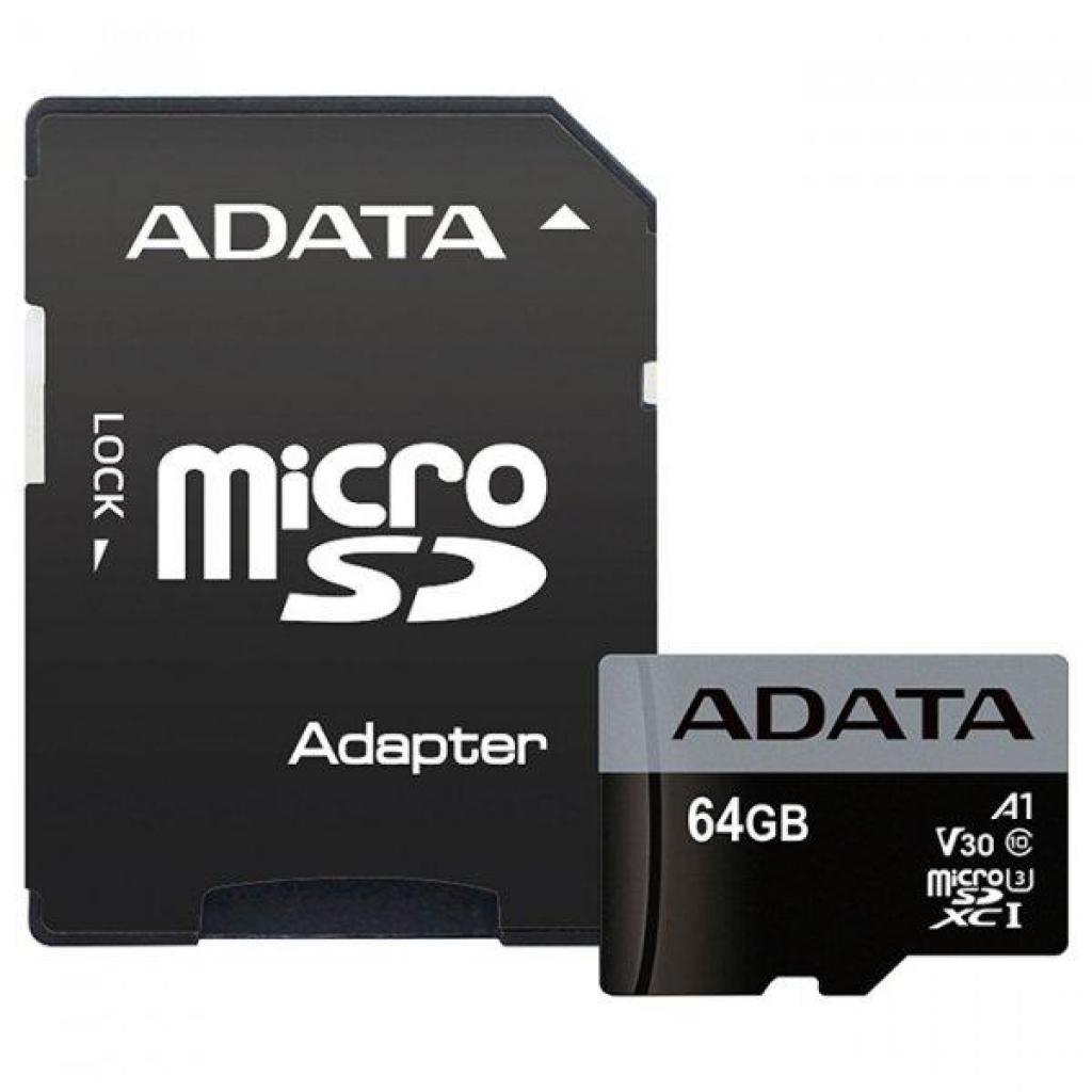 Карта памяти ADATA 64GB microSD class 10 UHS-I U3 A1 Premier Pro (AUSDX64GUI3V30SA1-RA1)
