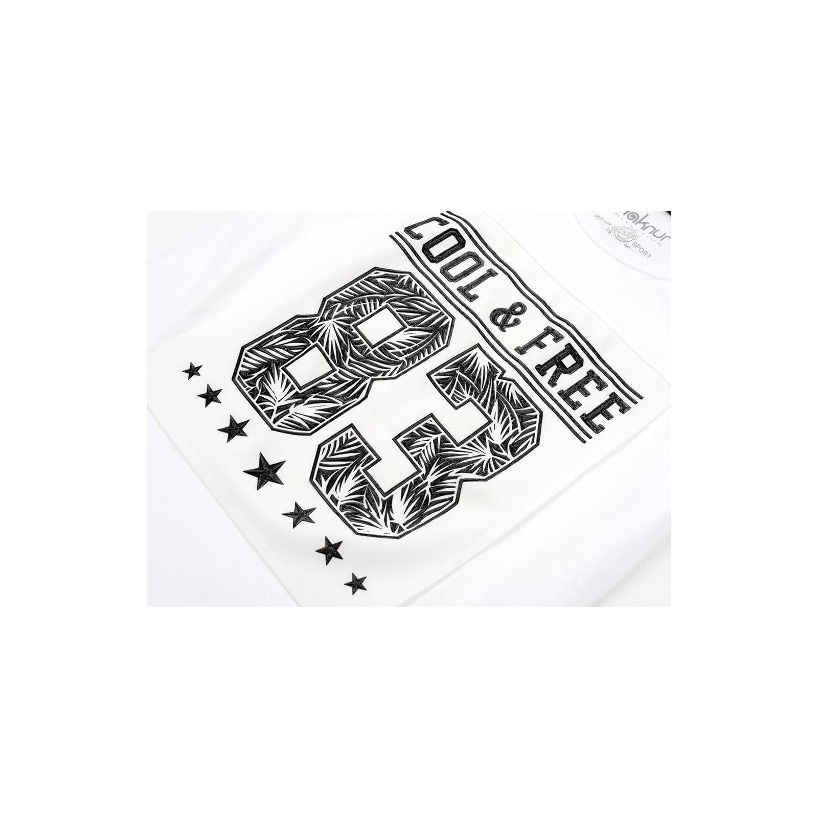 "Футболка детская Haknur ""COOL & FREE"" (6547-146B-white) изображение 4"
