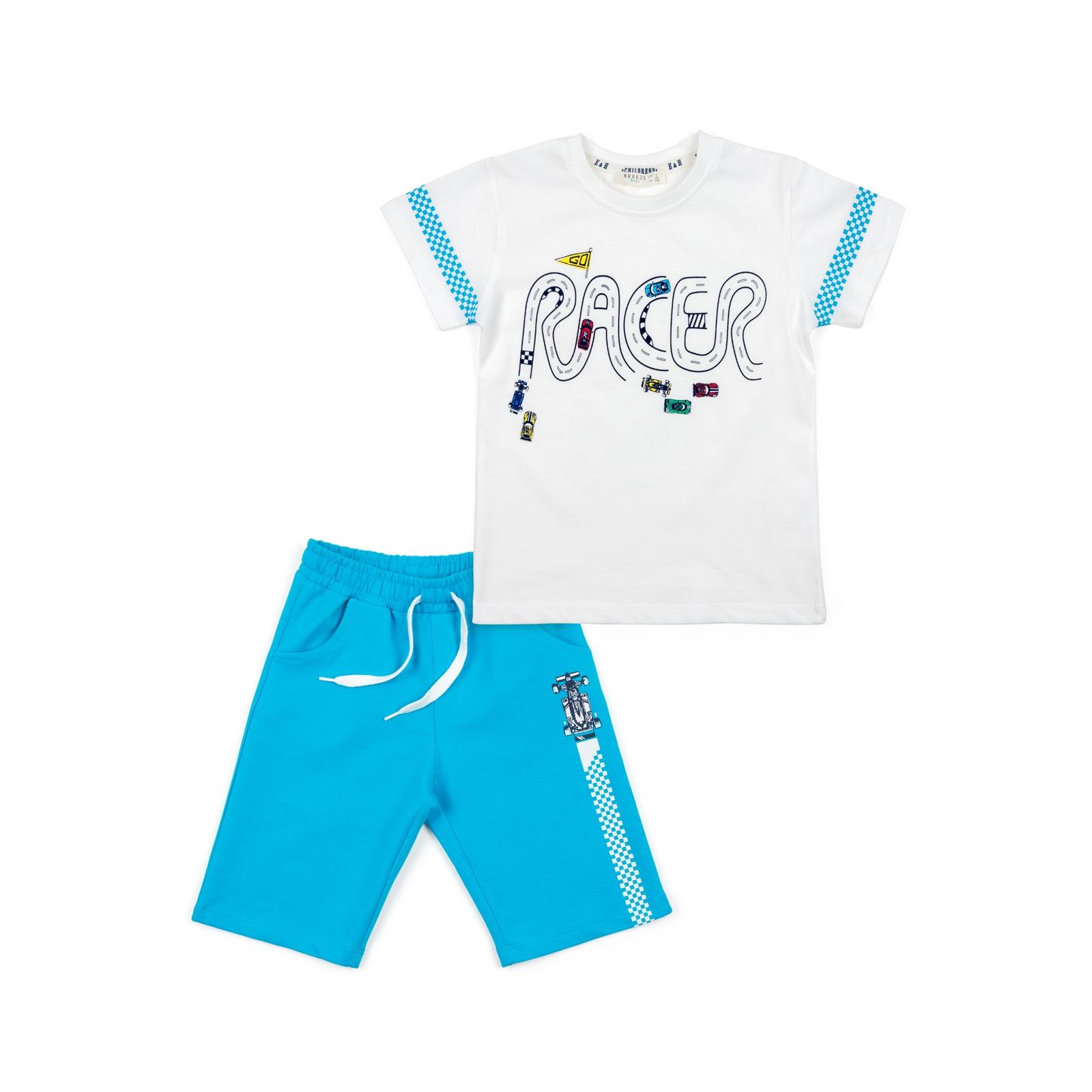 Набор детской одежды Breeze с машинками (12103-92B-blue)