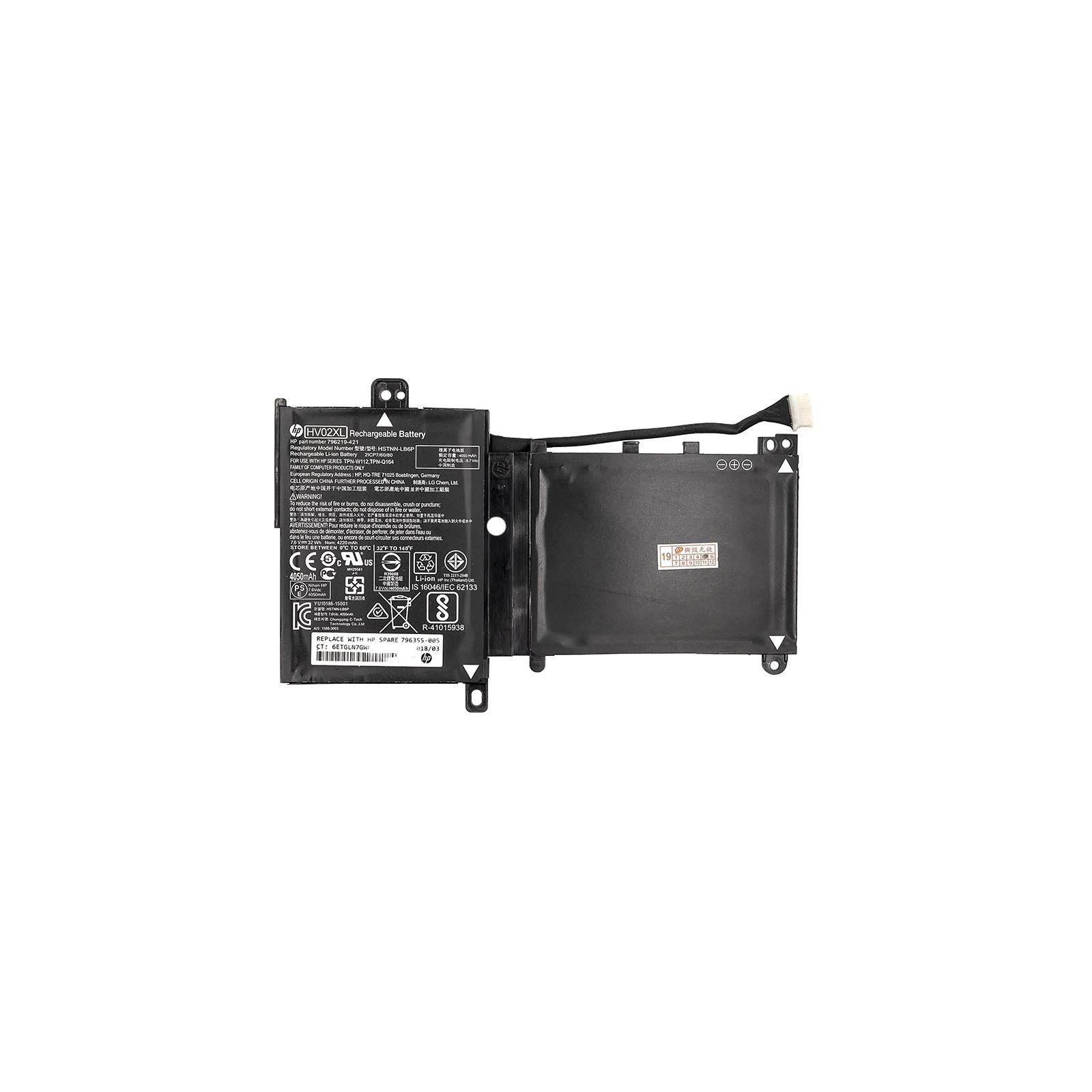 Аккумулятор для ноутбука HP Pavilion X360 11-K (HV02XL) 7.6V 32Wh (NB461172)