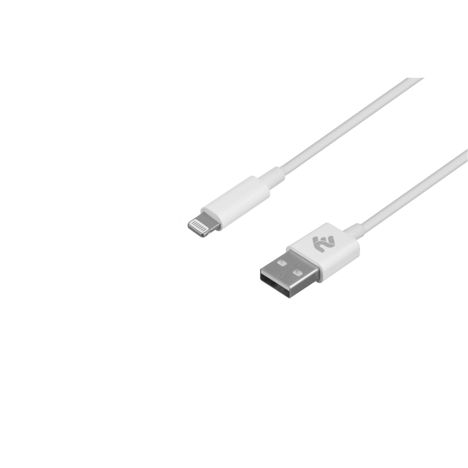Дата кабель USB 2.0 AM to Lightning 1.0m 2.4A black 2E (2E-CCLAB-BL) изображение 2