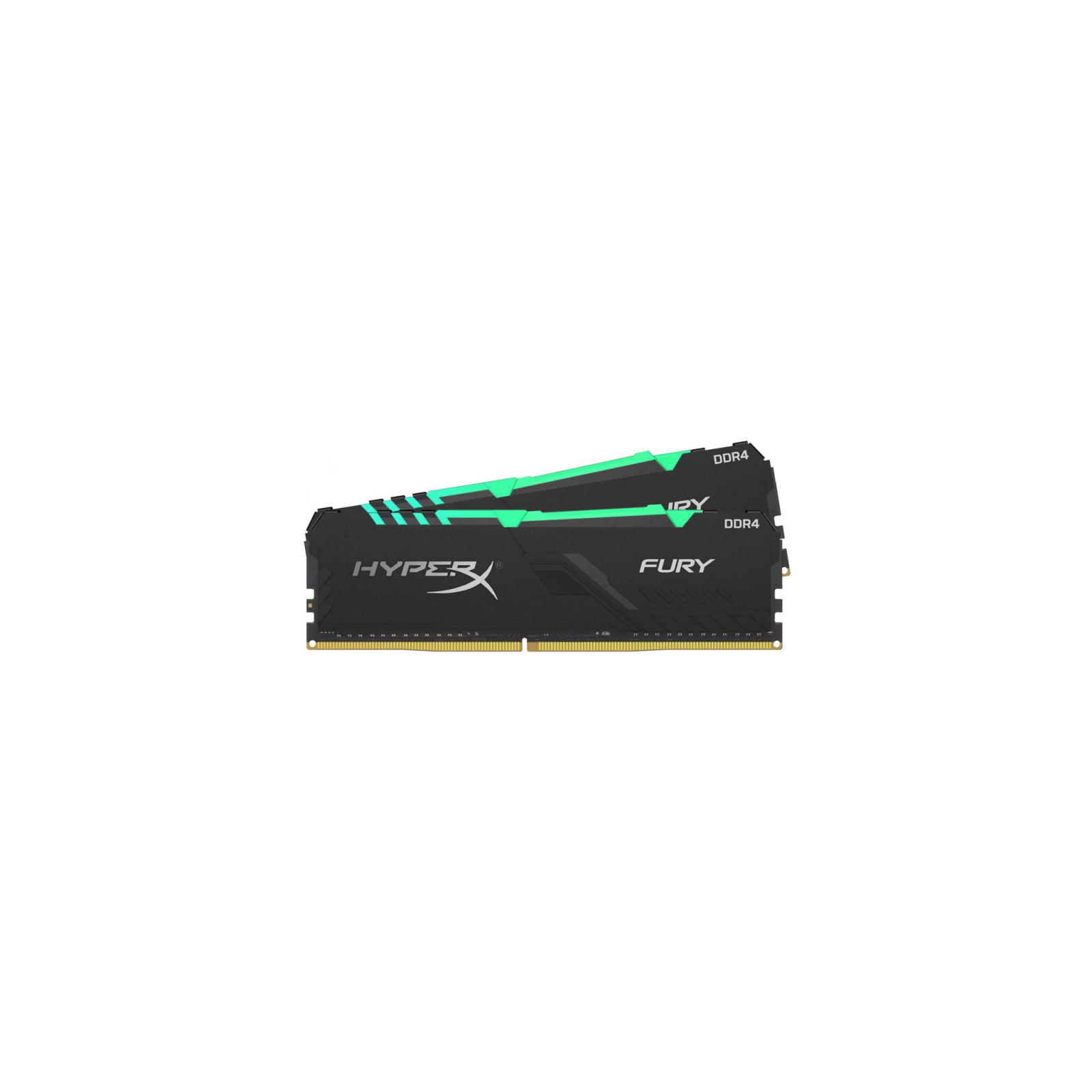 Модуль памяти для компьютера DDR4 16GB (2x8GB) 2666 MHz HyperX Fury Black RGB Kingston (HX426C16FB3AK2/16) изображение 2