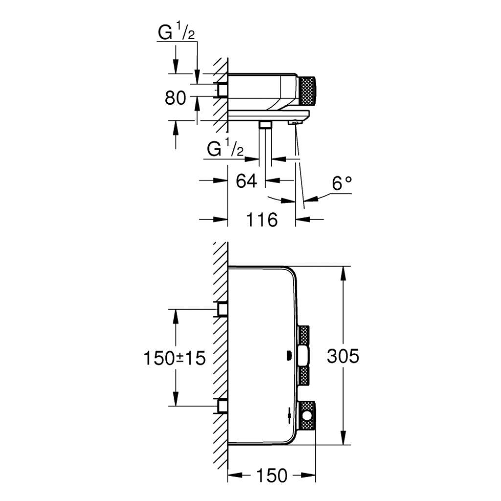 Термостатический смеситель Grohe GRT (34718000) изображение 4