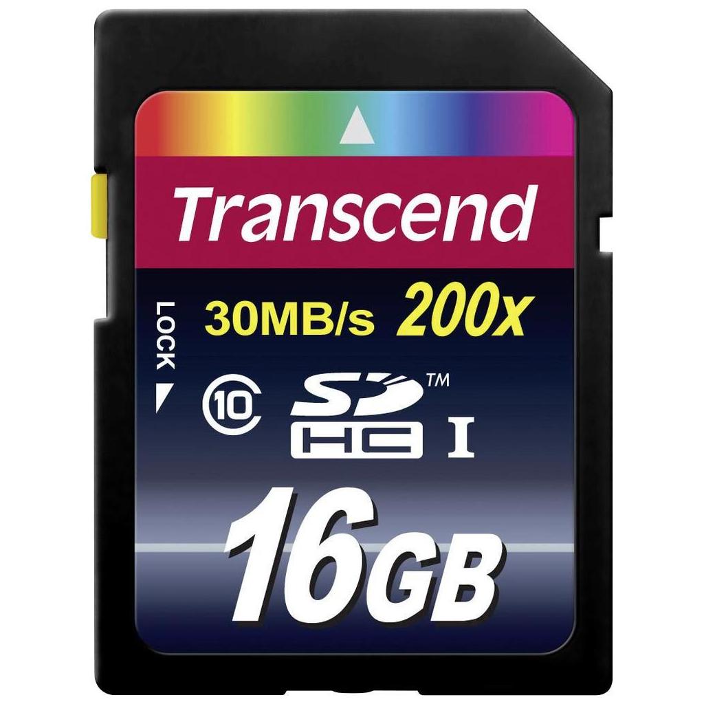 Карта памяти 16Gb SDHC class 10 Transcend (TS16GSDHC10)