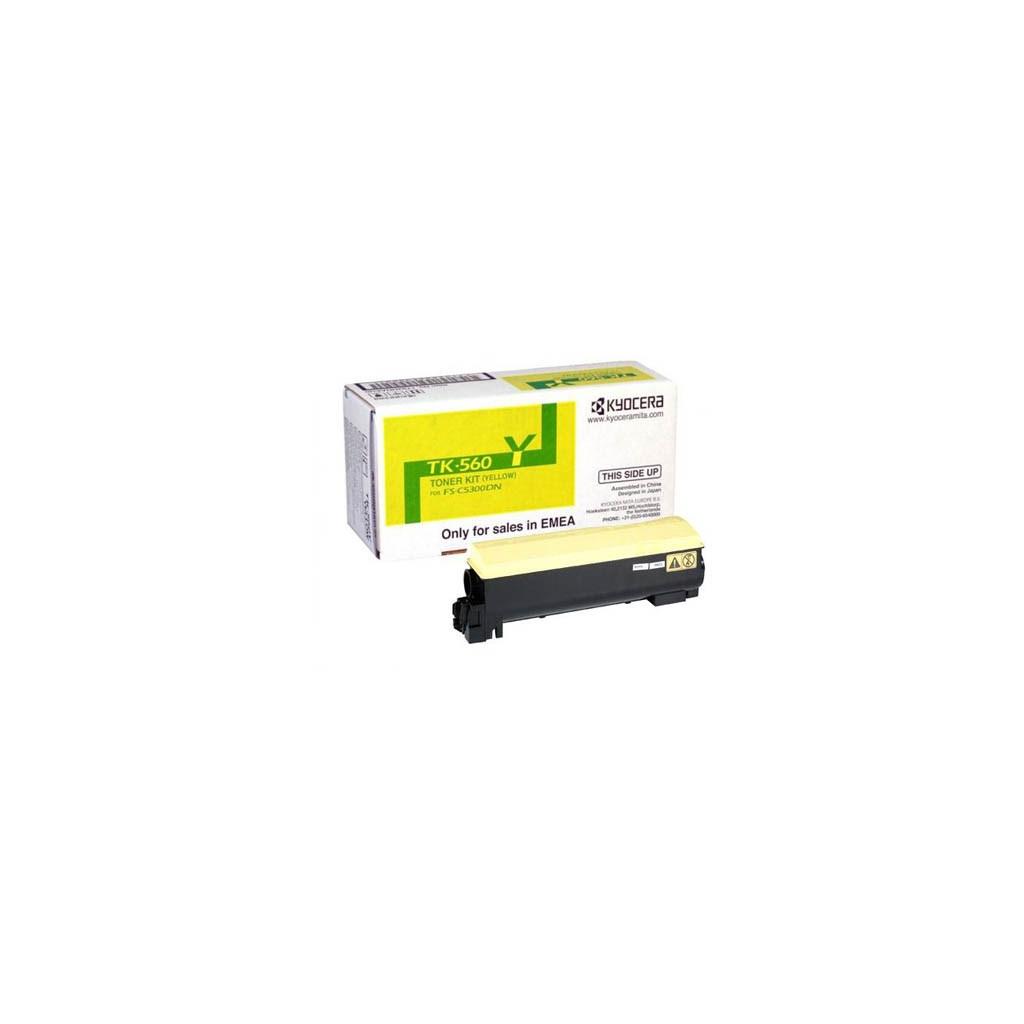 Тонер-картридж Kyocera TK-560Y yellow (Для FFS-C5300DN)10K (1T02HNAEU0)