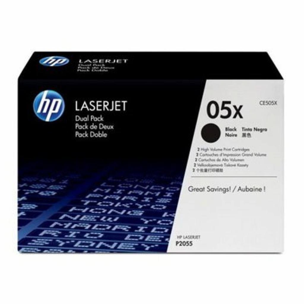 Картридж HP LJ P2055d/2055dn (2шт*CE505X) (CE505XD)