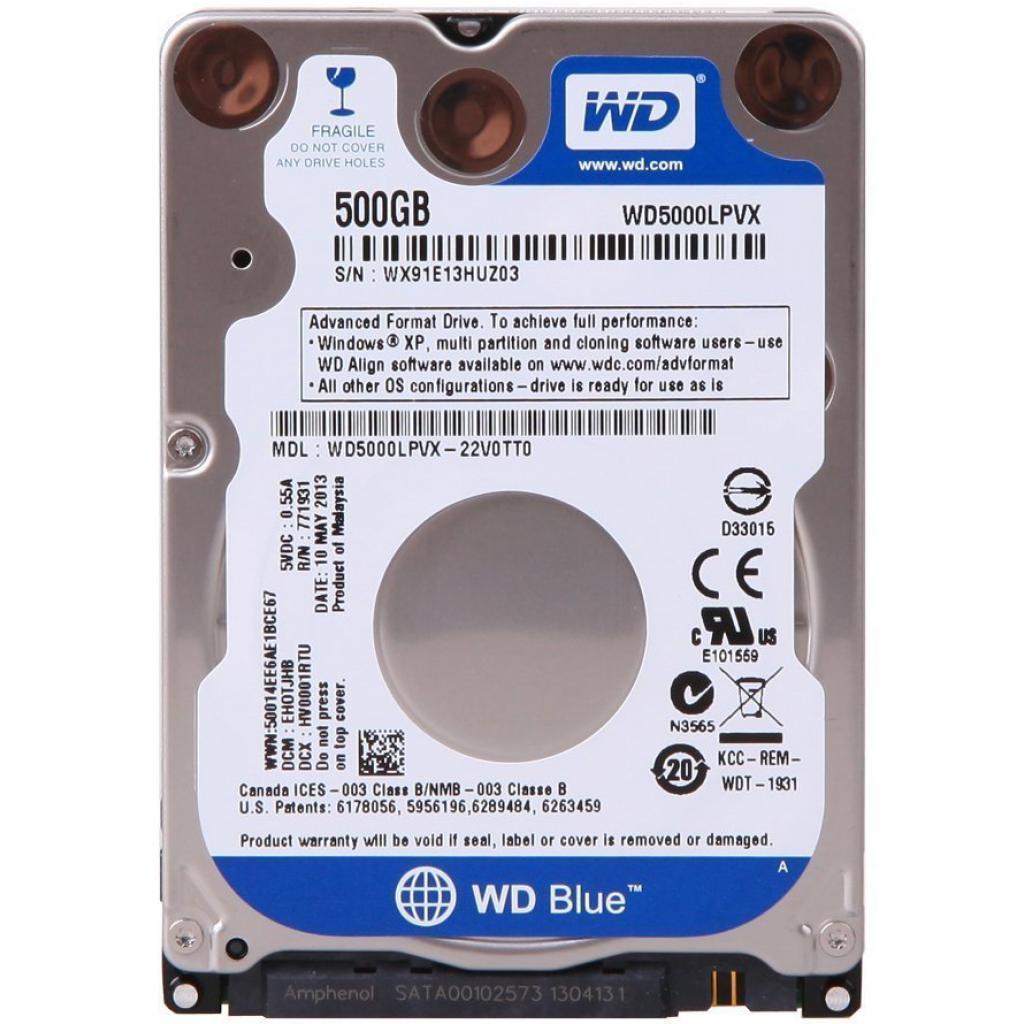 "Жесткий диск для ноутбука 2.5"" 500GB Western Digital (WD5000LPVX)"