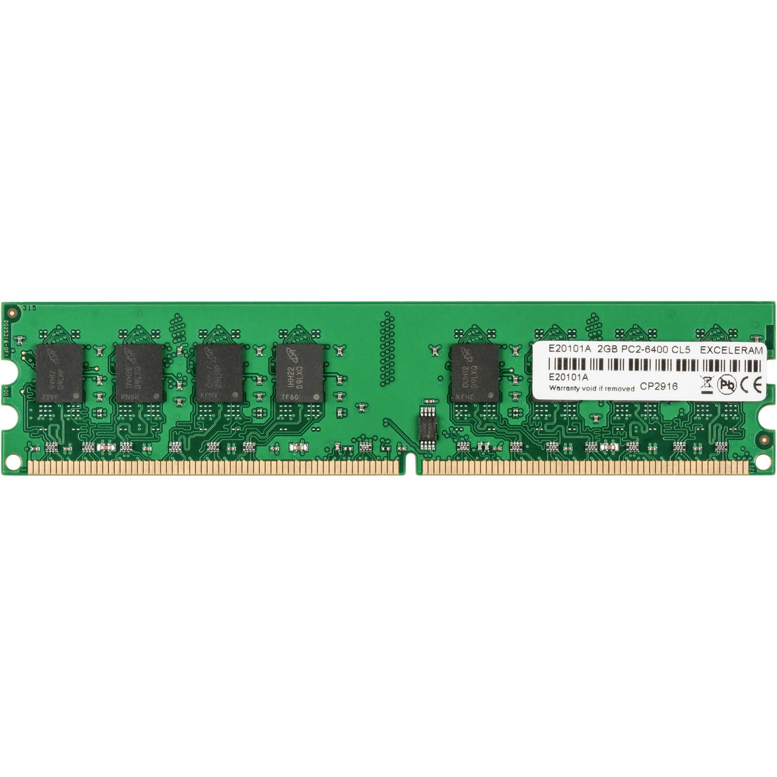 Модуль памяти для компьютера eXceleram DDR2 2GB 800 MHz (E20101A)