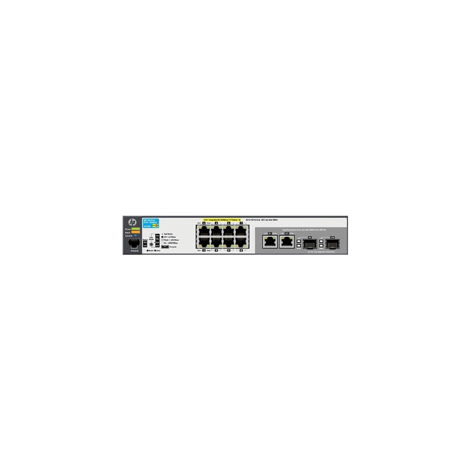 Коммутатор сетевой HP 2530-8-PoE+ (J9780A) изображение 2