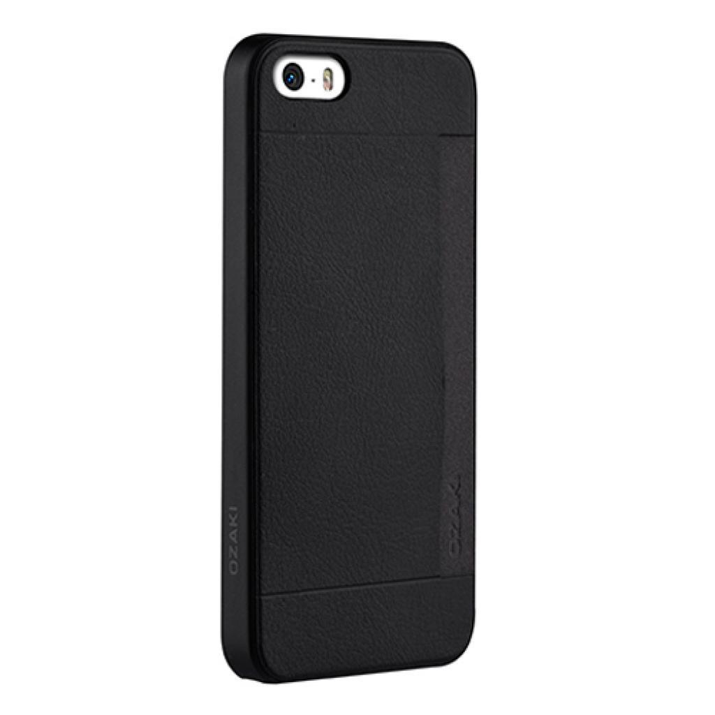 Чехол для моб. телефона OZAKI iPhone 5/5S O!coat 0.3+ Pocket ultra slim deluxe Black (OC547BK) изображение 2