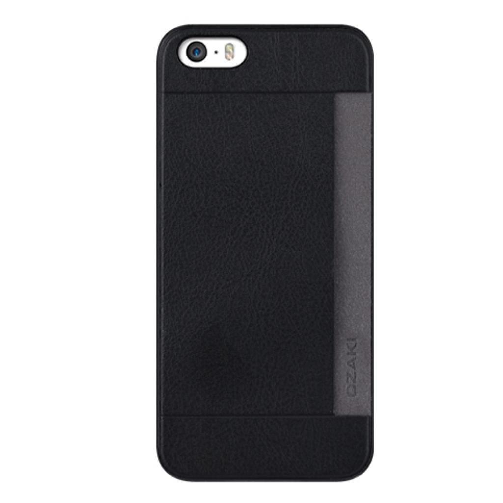Чехол для моб. телефона OZAKI iPhone 5/5S O!coat 0.3+ Pocket ultra slim deluxe Black (OC547BK)