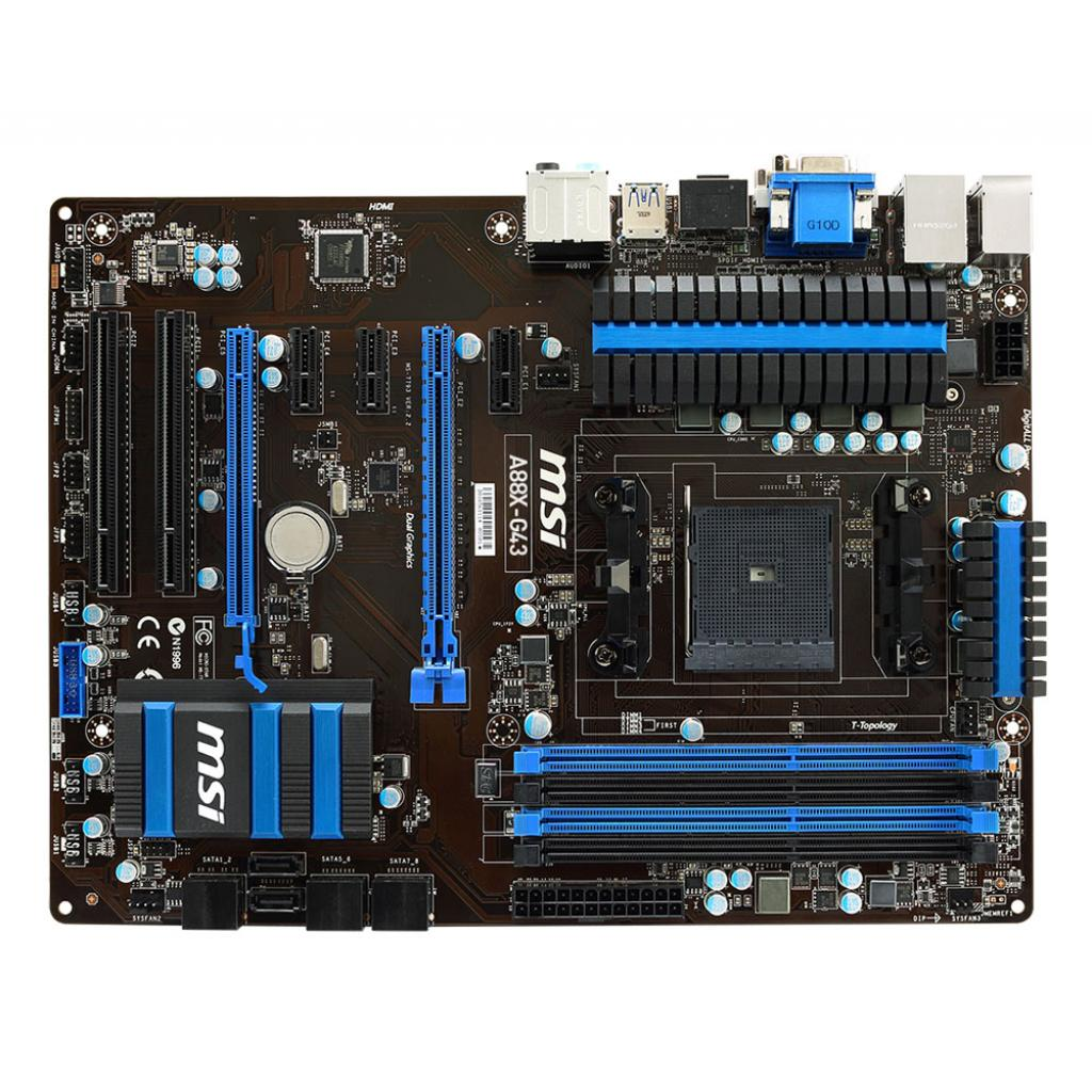 Материнская плата MSI A88X-G43 изображение 2