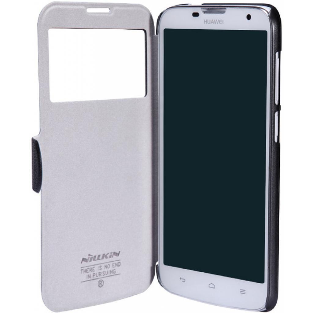 Чехол для моб. телефона NILLKIN для Huawei G730/Fresh/ Leather/Black (6147122) изображение 2